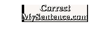 Correct My Sentence